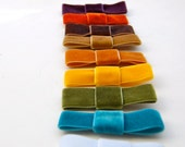 Velvet Bow Elastic Stretch Headband You Pick Your Colors