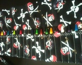Crayon Organizer - PIRATES & SKULLS - inc. 24 crayon slots