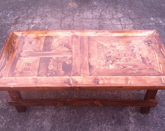 recycled wood coffee table