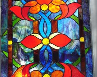 Beautiful Leaded Stained glass Door Panel