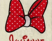 Instant Download - minnie mouse bow  - 047- machine embroidery design - bow applique design