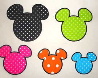INSTANT DOWNLOAD - mouse ears 049 - mickey mouse head Applique, Applique Embroidery,  Disney Applique