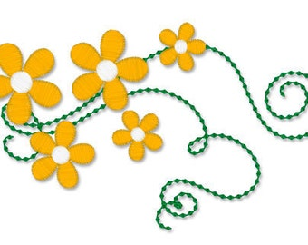 INSTANT DOWNLOAD - FLOWER 154 -  Machine Embroidery -  Filled Stitches
