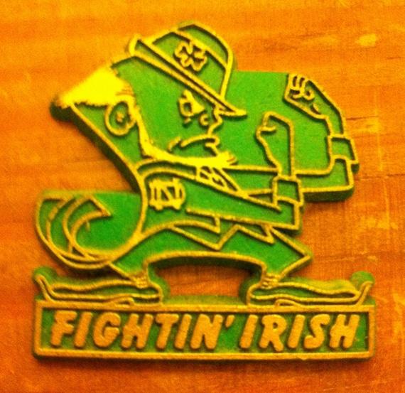Notre dame fighting irish fridge magnet vintage