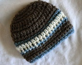 Baby boy beanie in new season colors Newborn gift Ready to send today