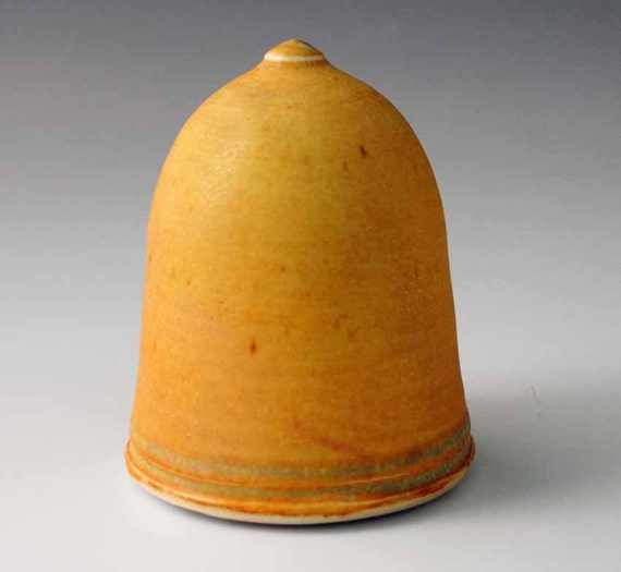 Stopperless Salt Shaker, Golden Yellow Glazed Porcelain