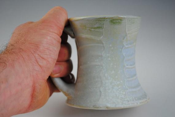 Pale Blue Green Stoneware Mug