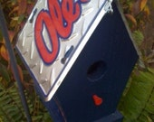 Ole Miss Rustic License Plate Birdhouse