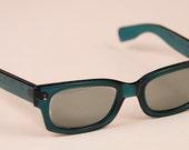 R E S E R V E D 1960's vintage teal/aquamarine COOL RAY Polaroid sunglasses/eyewear by Cari Michelle Reserved