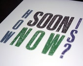 8x10in The Smiths poster - How Soon is Now, Grey