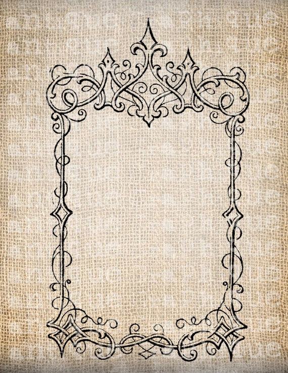 Antique Blank Fancy Ornate Victorian Frame By Antiquegraphique