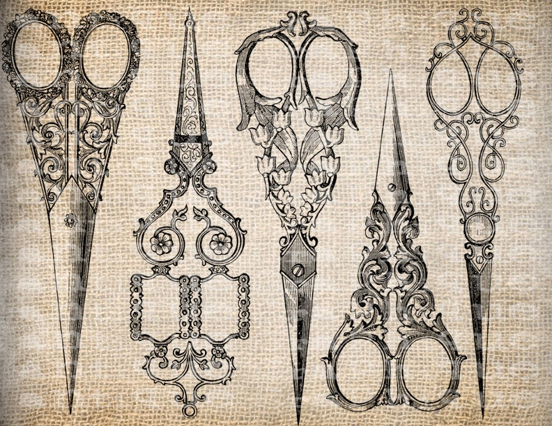 hair cutting scissors tattoo