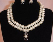 925 STERLING Silver Swarovski Bridal Pearl Set (LFJ)