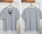 Nautical T-shirt.Boyfriend SIZE M/L