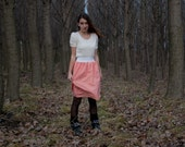 Knee-Length Coral Pink Skirt