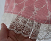 Knee-Length Light Pink Vintage Ribbon Skirt