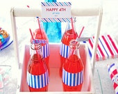 Fourth of July Labels / Patriotic Printable Label / July 4th / Independence Day / Buffet Labels / Place Cards / Tags