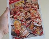 Zombie Supermarket: A4 Digital Print