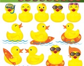 Lil Rubber Duck Digital Clip Arts - Commercial and Personal Use - No Credit Required - 23CA