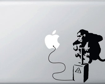 MB - The Monkey Bomber Vinyl Decal for Macbooks, Laptops and More...