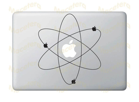 Atom Apple Vinyl Decal for Macbooks, iPads, Laptops and More...