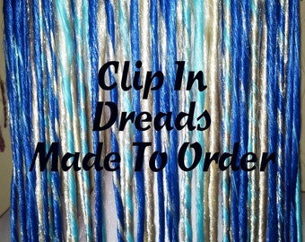 Clip in Dread Hair Extension Hand Wefted Made to Order 65 Colors to Choose From