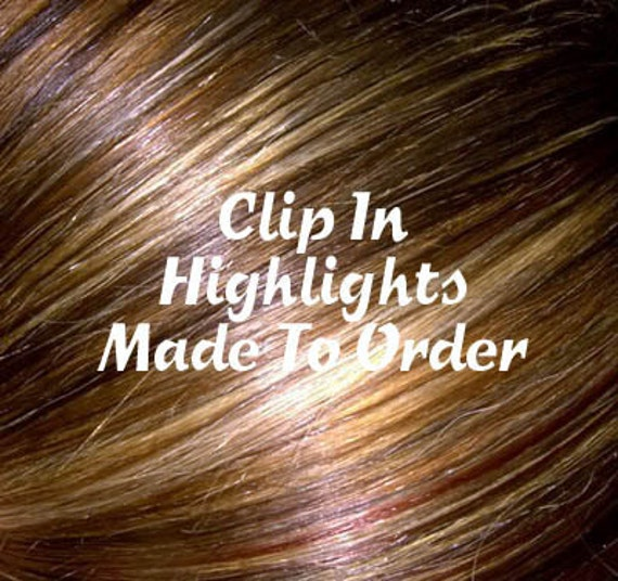 Clip in 24 Inch Hair Extension Hand Wefted Made to Order 9 Colors to Choose From