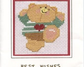 Best Wishes card with teddy bear design