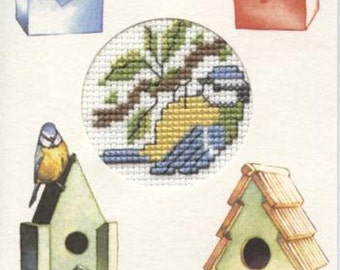 Greetings card with Blue Tit design