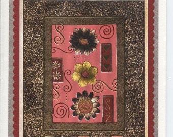 Happy birthday card with flower design.