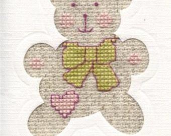 Greetings card with teddy bear design