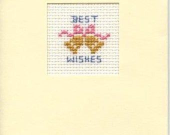 Best Wishes card with bell design