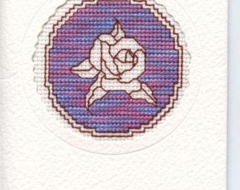 Assissi rose design greetings card