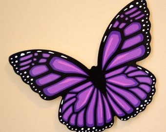 Purple Butterfly Wall Decoration