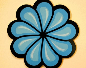 Blue Flower Wall Decoration