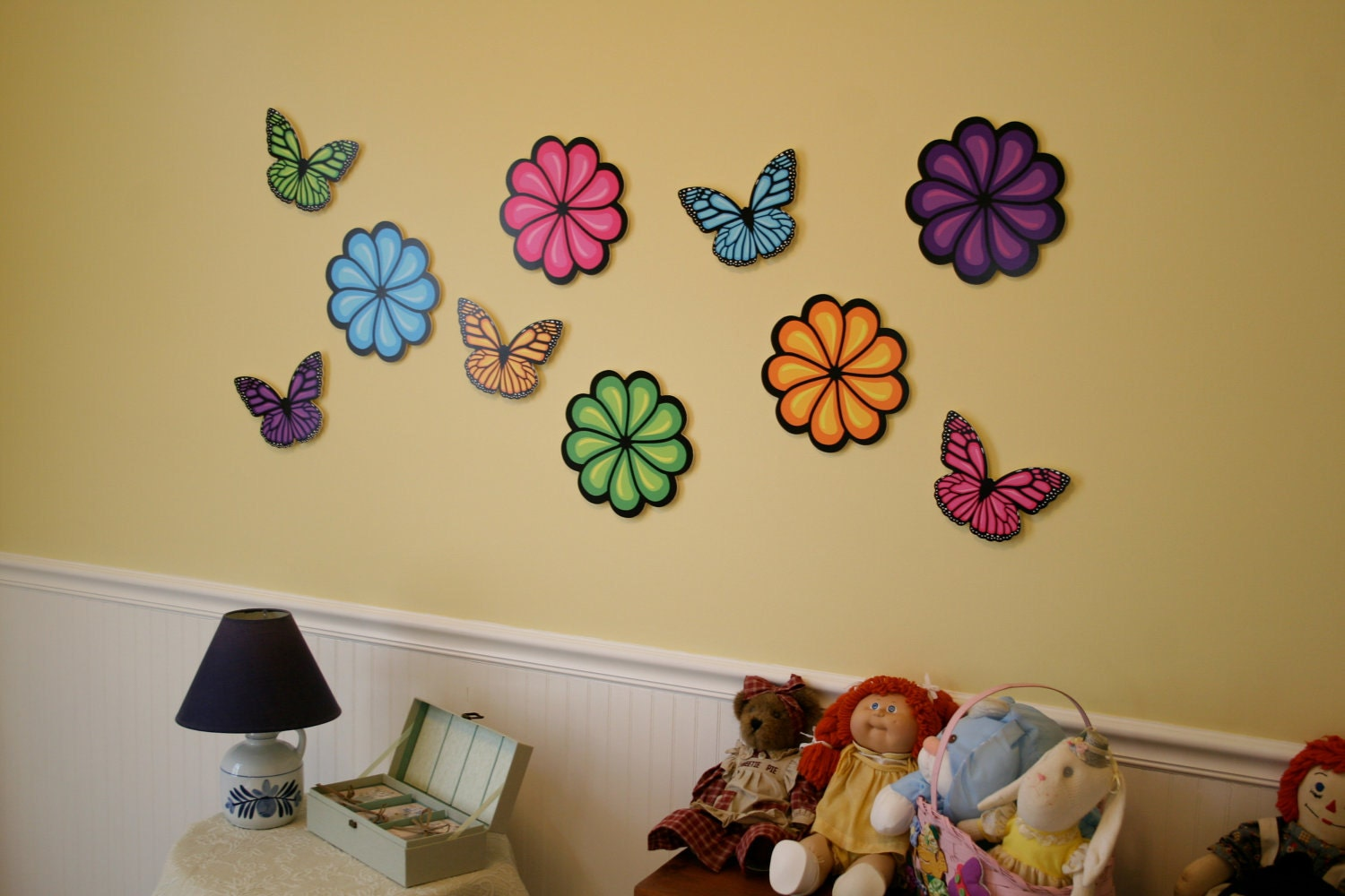 Flowers and Butterflies Wall Decorations [E10231018401160966M ...