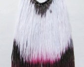 Color splash - hand dyed necklace with metal chain/murMur