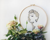 Embroidery with Audrey Hepburn