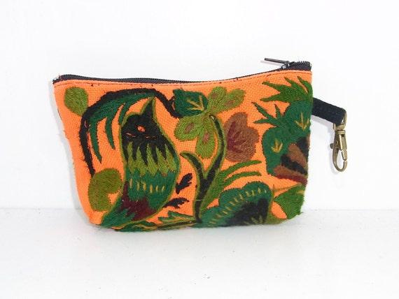 Coin Pouch Bag Purse Hill Tribe Fabric Vintage HMONG Hemp Handmade Thailand (290v.104)