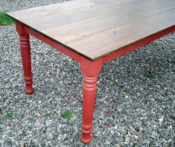 Dining room table kitchen table etsy farm tables by for Dining room tables etsy