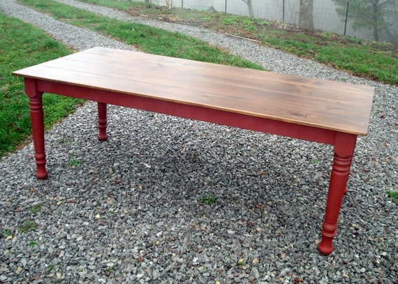 Dining room table kitchen table etsy farm tables farmhouse for Dining room tables etsy