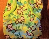 Bananas for you Monkey diaper cover