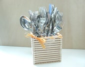 Autumn Inspirations - Popsicle Wood Stick Basket - Cutlery Basket - A place for everything - Organize your Home - Wedding