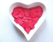 RESERVED Confetti - 200 paper hearts - Red - Valentine - Love - Decor - Birthday