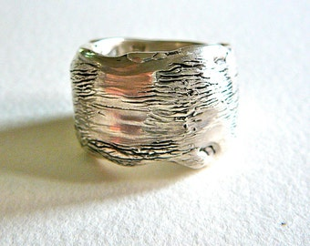 Sterling Silver Cast Ring