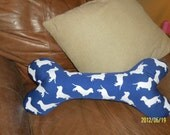 Doggie Bone Pillow Hand Painted with Many Dachshunds