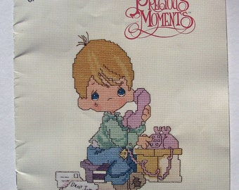 Precious Moments, Pattern, Counted Cross Stitch, Christian Message, Embroidery, Booklet, 1982