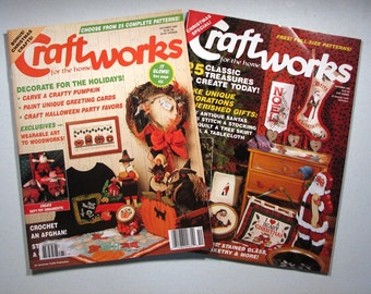 Craft Works Magazines Holiday Issues Two Cross Stitch Wood Decorating Quilting Etc.