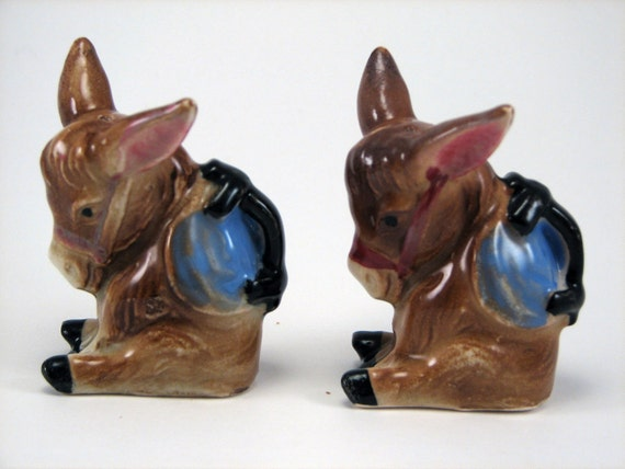 Donkey Salt and Pepper Shakers