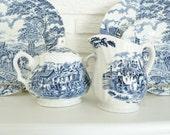 Myott Royal Mail Dinnerware Set of 2 & Royal Wessex Bowls Plus Cream and Sugar Bowl